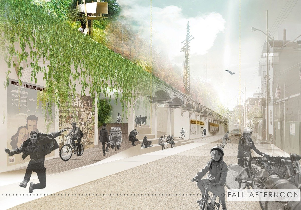 1st Prize, The Queensway Steps by Carrie Wilbert and Eleonore Levieux of Paris, France