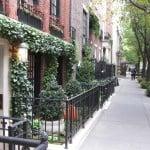 Upper East Side sidewalk, Upper East Side neighborhood