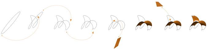 Loop de loop chair diagram