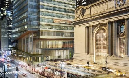 new developments in NYC, buildings under de Blasio's plans, SL Green buildings, Buildings by Grand Central Terminal, Vanderbilt Corridor, one vanderbilt,Kohn Pederson Fox, sl green