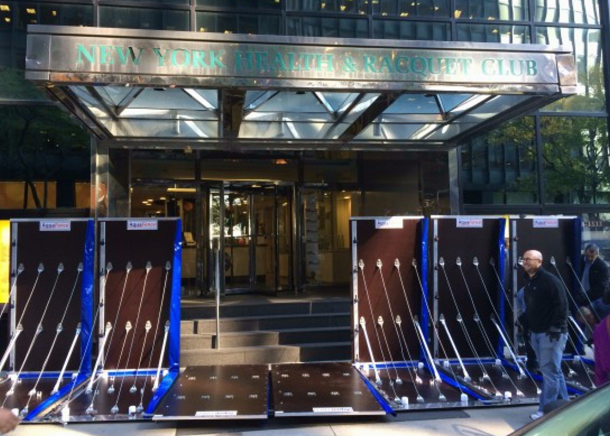 AquaFence, 2 Water Street, flood barriers, NYC storm prevention
