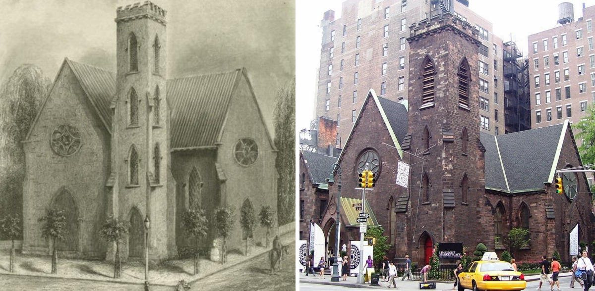 Episcopal Church of the Holy Communion, Richard Upjohn, Gothic Revival church, Limelight Nightclub, Limelight Shops