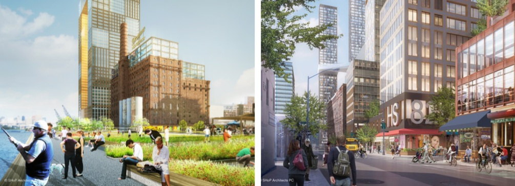 Domino Sugar Factory, SHoP Architects, NYC planned communities