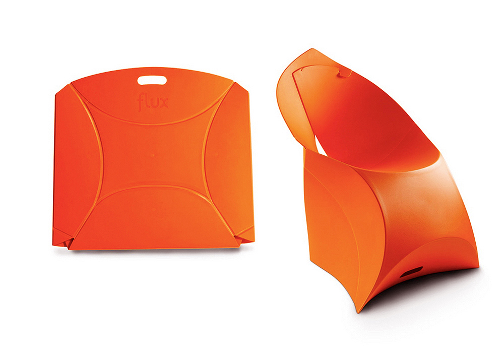 Flux Chair Fantastic Plastic Seat by Dutch Duo Can Fold