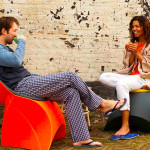 Flux Chair, Douwe Jacobs, Tom Schouten, folding furniture, recyclable polypropylene, origami-inspired, outdoors furniture
