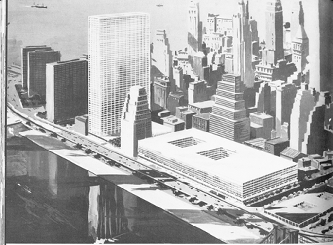 East Side World Trade Center-Brooklyn Bridge-1959-NYC