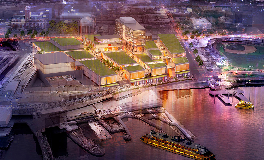 Empire Outlet Mall, SHoP Architects, St. George Redevelopment Plan, Staten Island waterfront