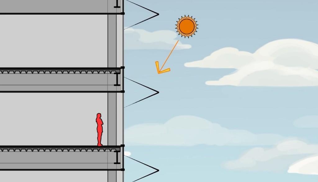 Sunbreak Shades, NBBJ architects, solar shades, skyscraper climate control