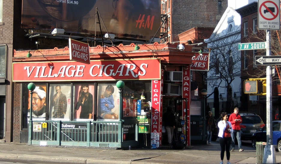 Village Cigars, NYC history, Christopher Street, Seventh Avenue South