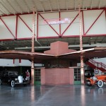 A full-scale model of Frank Lloyd Wright's unbuilt gas station design