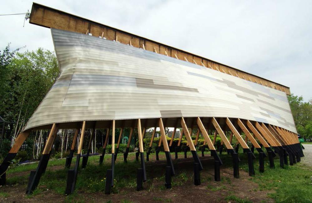 noahs ark, austin mergold architects, socrates sculpture park, giant noah's ark, nyc sculptures