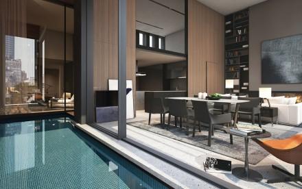 Soori High Line, SCDA Architects, High Line architecture, Soo Chan, interior swimming pool