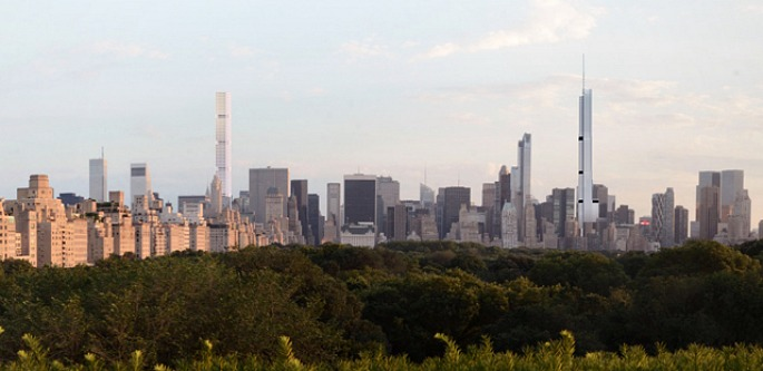 217 West 57th Street, Nordstrom Tower, Adrian Smith and Gordon Gill, NYC supertalls, Extell development, 432 Park Avenue