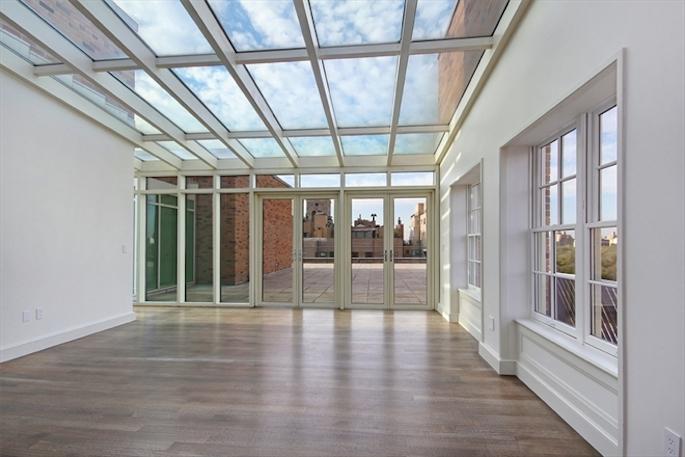 25 East 77th Street, The Mark, Eric Schmitt custom staircase, skylit conservatory