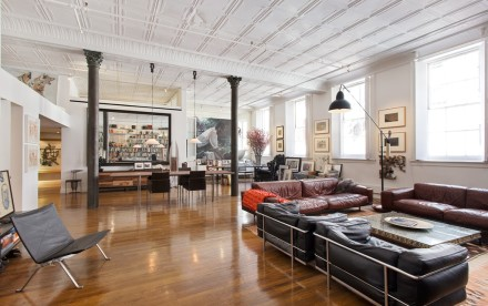 85 Mercer Street, Soho Cast Iron Historic District, original tin ceilings, lofted bedroom