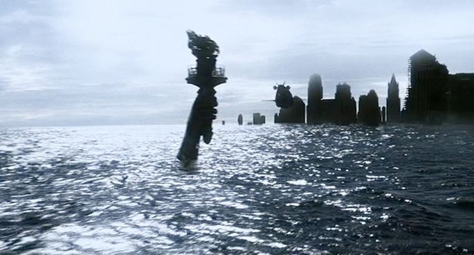 AI Movie Statue of Liberty under water, statue of liberty under water, ruin value, ruin porn