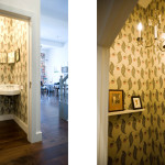 Brooklyn Heights Loft, Elizabeth Roberts, Ensemble Architecture, Interiors, Renovation, vintage chandelier, wallpaper