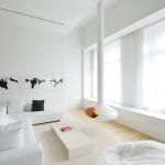 David Hotson Architect Soho duplex, David Hotson Architect, Soho duplex, all white lofts, all white penthouses, white lofts nyc