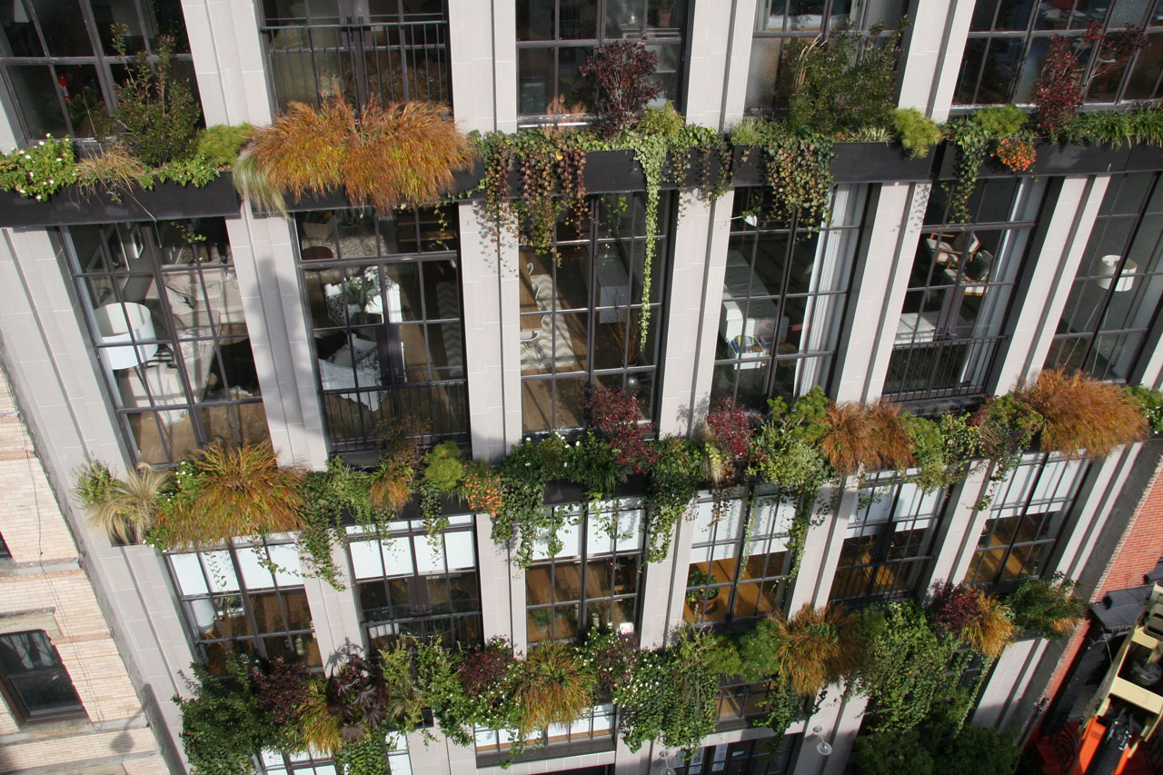 The flowerbox building a sustainable gem in a storied setting 6sqft - English style window boxes living facades ...