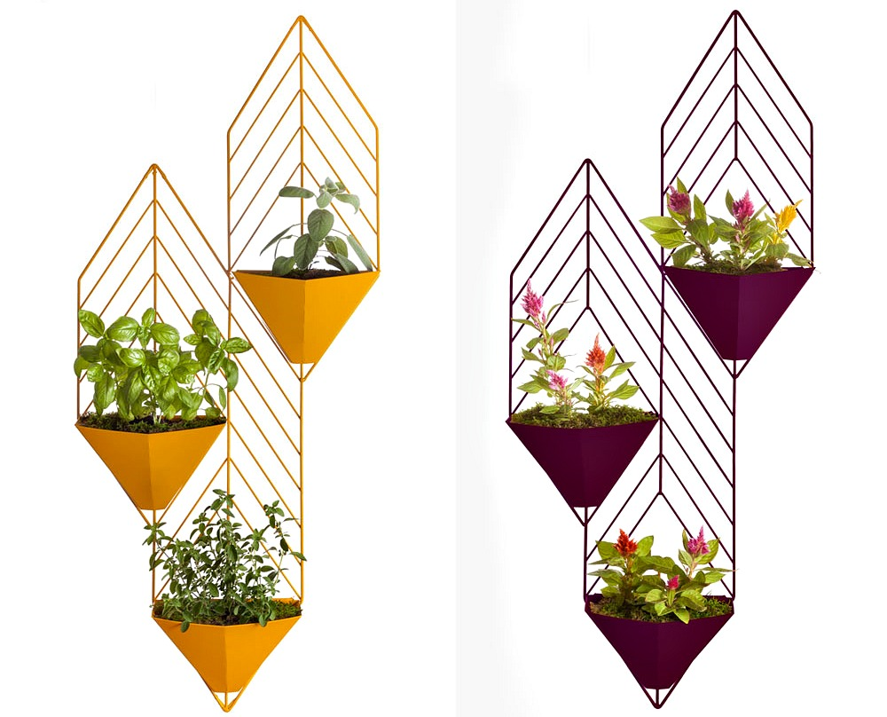 Cora Neil, HEDGE planters, contemporary planters, powder-coated steel
