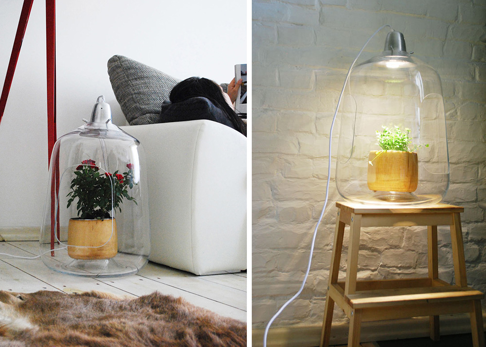 Milo Is A Greenhouse Lamp That Cares For Your Indoor