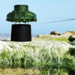 Nir Meiri, seeweeds lampshade, Marine Light, Israeli design, Tel Aviv, algae lamp,
