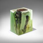 Nucleo, Jade Stools, Italian design, epoxy resin, precious furniture