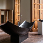 Splinter Works, Vessel bathtub, carbon fire, freestanding bathtub, elegant bathtub