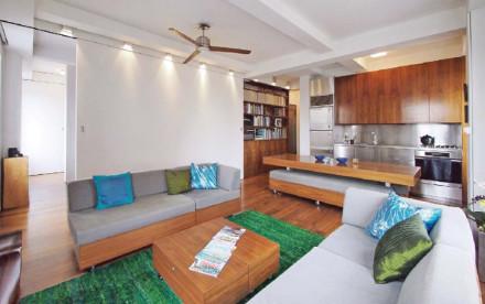 Studio Garneau, transforming apartment, small space living, morphing apartment, nyc apartment