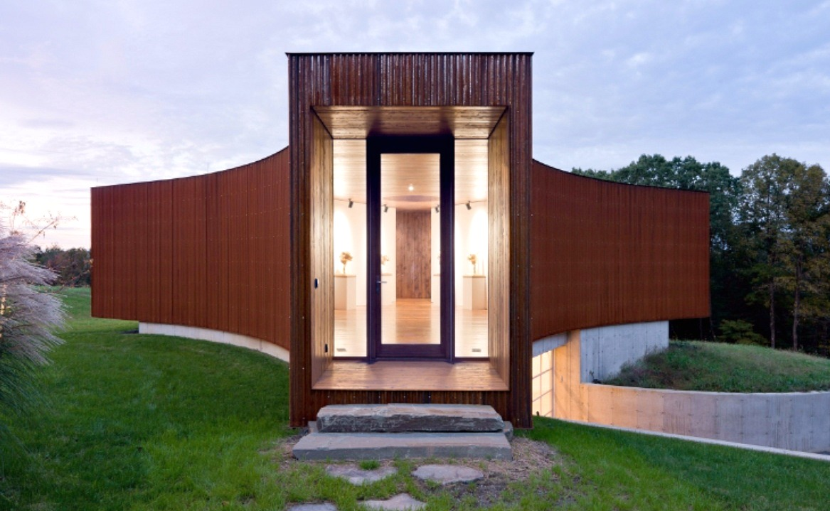 Y shaped guest house was co designed by hhf architects for House with guest house