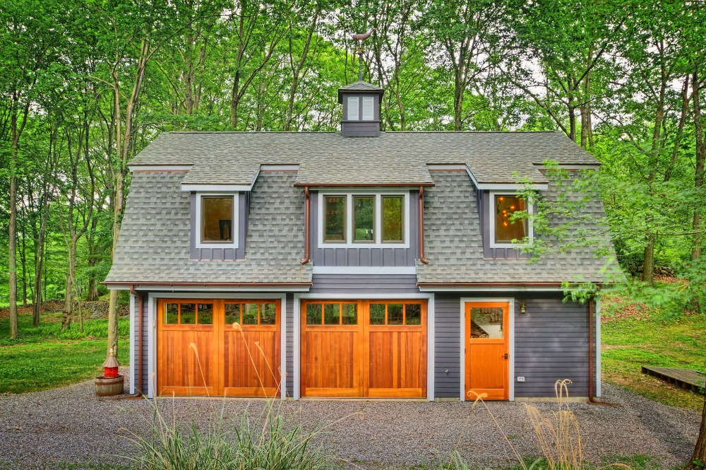 Hudson design 39 s rustic writer 39 s studio barn is a converted for Double story garage