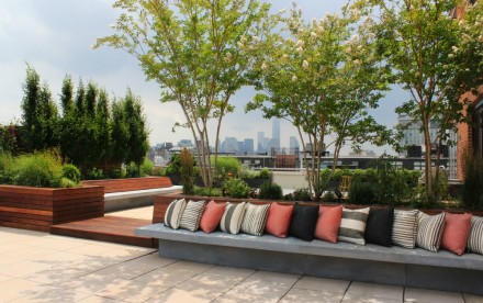 blondie's treehouse, meatpacking district, high line, outdoor space, exterior space, landscaping design, rooftop garden
