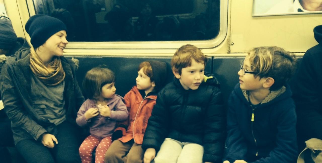 city kids, subway, NYC,