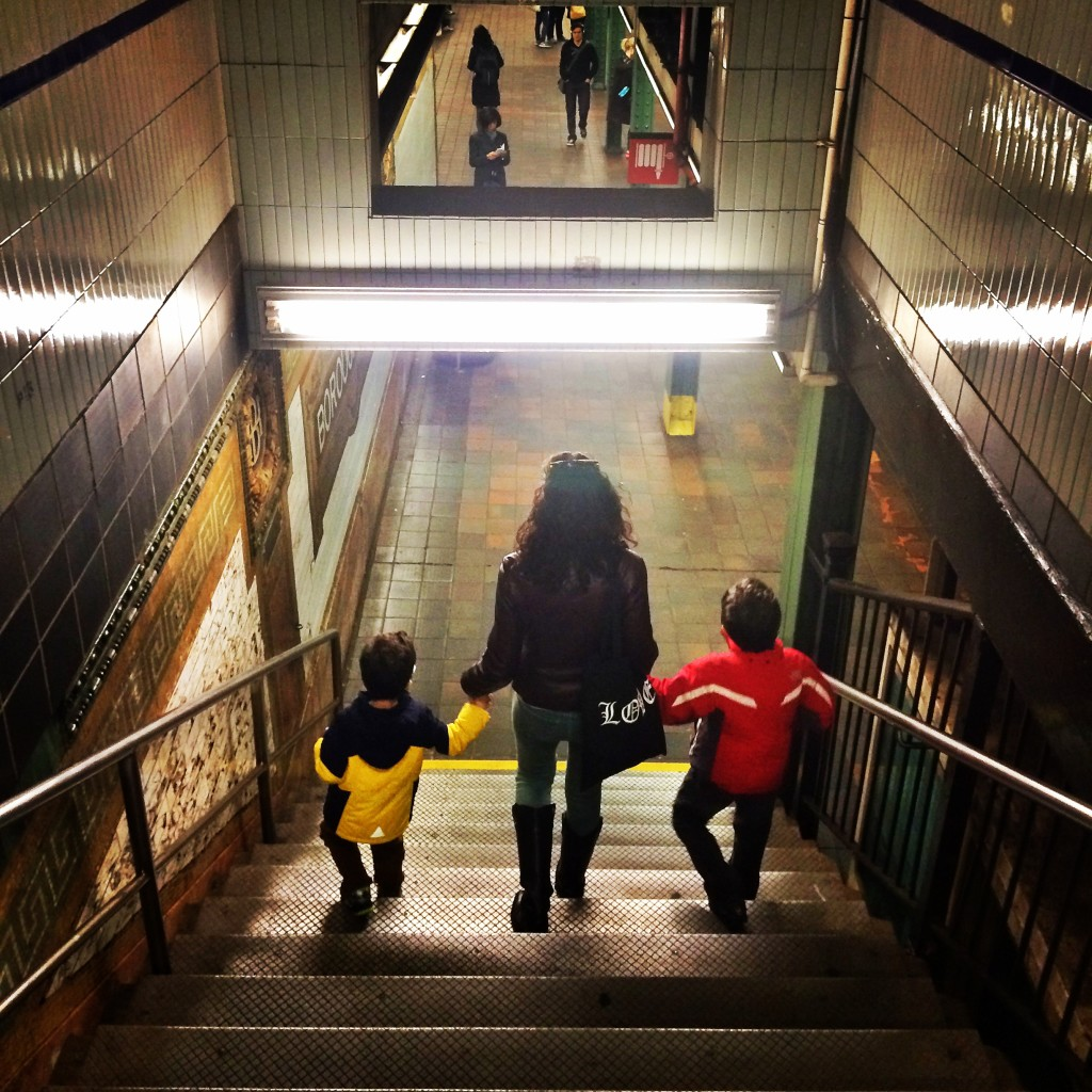 city kids, subway, families, urban living