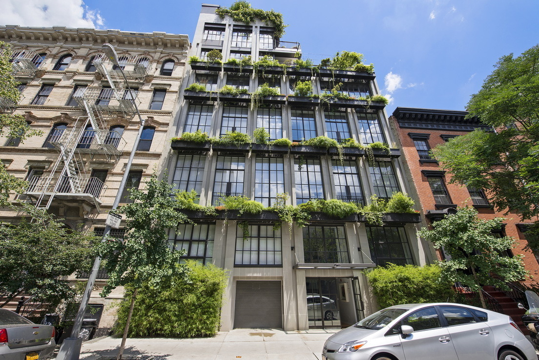 The flowerbox building a sustainable gem in a storied for Nyc townhouse with garage