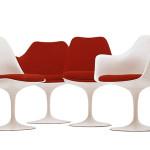 Saarinen, tulip chair, knoll, mid century modern, modern design,