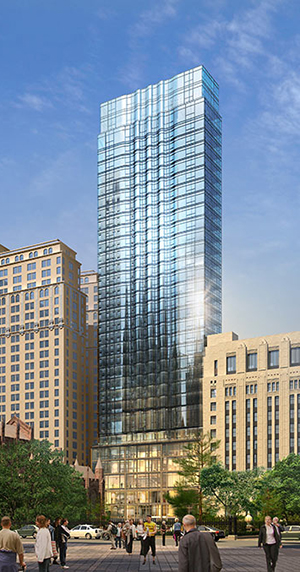 Trinity Church, Wall Street condos, FiDi apartments, Trinity churchyard, Alexander Hamilton, ugly buildings