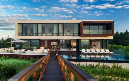 Blaze Makoid Architecture's Daniels Lane, Long Island, Rustic Modernism, Norman Jaffe, afromosia wood, seaside home, quiet elegant design