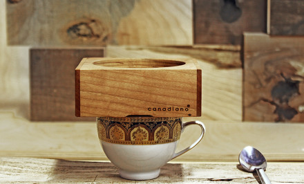 Fishtnk Design Factory, coffee maker, Canadiano, Pour over coffee maker, wooden block, minimalistic coffee maker,