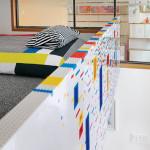 LEGO, I-Beam Design, pixilated renovation, Barcelona Chair, colorful renovation, NYC loft renovation, Sean Kenney,