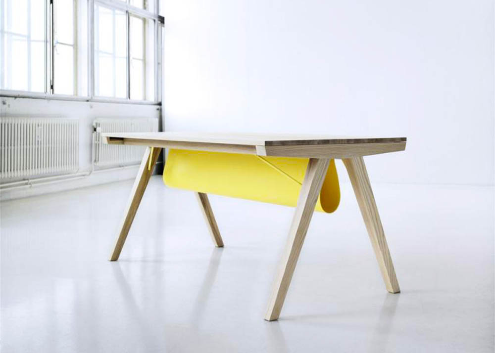Line Depping, Borrod table, table with a gap, tidy table, danish design