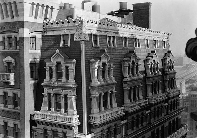 New York Tribune Building Top Detail