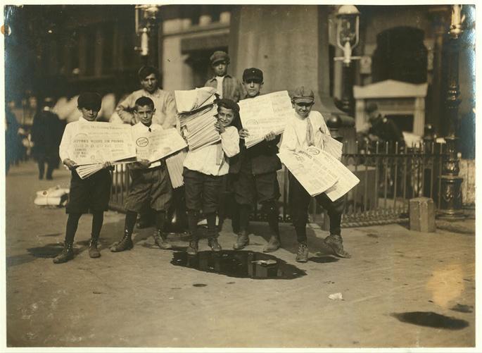 Newsboys and Newsgirl Park Row