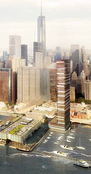 Howard Hughes, SHop Architects, South Street Seaport, Pier 17, Sea Change, East river