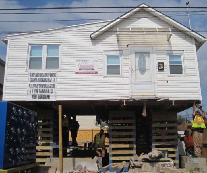 Raised house, Superstorm Sandy