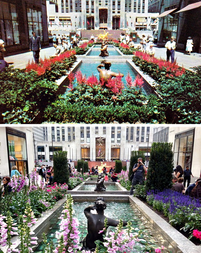 ScenePast: Americana Road Trip, vintage postcards, Rockefeller Center
