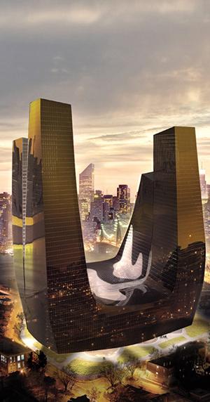 Long Island City developments, Leeser Architects, Silvercup, Sesame Street, blob architecture, Queens Waterfront, skyline views