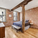 wood beams, hardwood floor, renovated chelsea loft