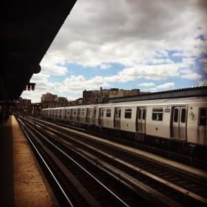 NYC Subway  southwilliamsburg subway brooklyn nyc clouds rail transportationhellip