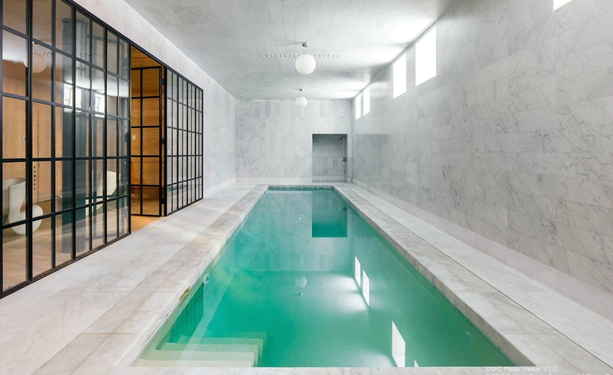 channel your inner olympian in the marble house s lap pool for 6sqft. Black Bedroom Furniture Sets. Home Design Ideas